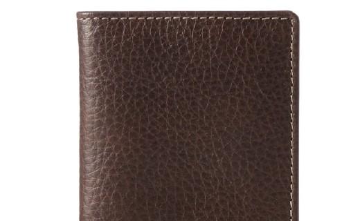 化石 Lincoln真皮钱包:纯皮材质柔软细腻手感好,精致车线耐磨耐用