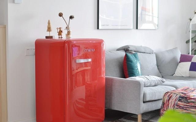 低能耗迷你型冰箱,单身贵族高品质生活必备 — 小吉复古单门迷你小冰箱