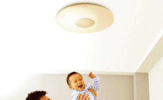 飛利浦恒宜吸頂燈:4檔亮度色溫調節,LED發光防眩目更護眼
