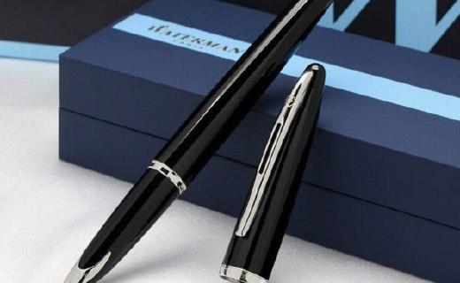 威迪文海韻黑夜鋼筆:鈦金筆身握持舒適,18K鍍金筆頭
