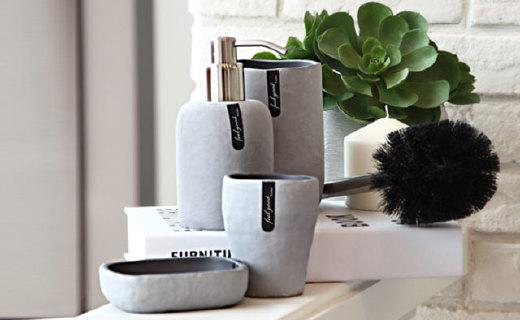 LAVIE BATH海礁系列衛浴四件套:天然石粉與樹脂材質,裝點你的浴室