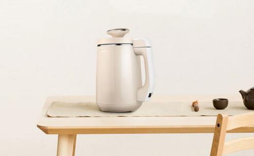 美的DJ12B-DEO1豆浆机:轻薄机头强劲省力,一键预约早餐豆浆