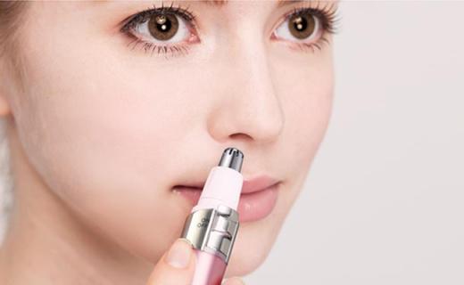 Tescom鼻毛修剪器:立體旋轉刀頭不傷鼻腔,帶清潔刷可清潔鼻翼