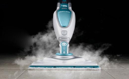 百得FSM1630蒸汽拖把:高溫蒸汽潔凈健康,多種模式保護地板