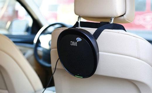 3M车载空气净化器:全新滤材高效过滤,结构简单拆装方便
