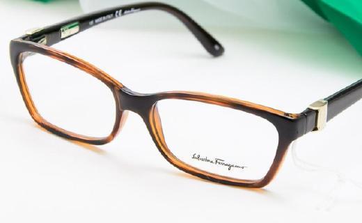 菲拉格慕男士眼鏡架:金屬塑料材質舒服,外形簡單大方