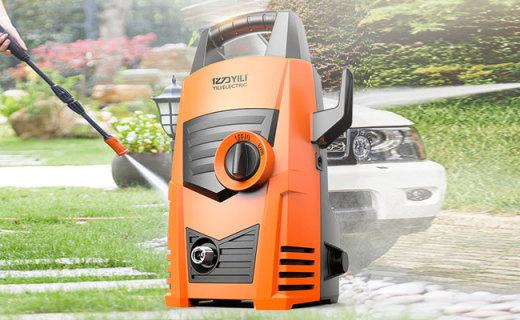 亿力洗车机:高压出水不伤车漆,压力强劲洗车又快又方便