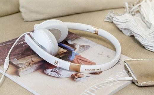森海塞爾便攜頭戴耳機:立體聲單元音質出色,智能遙控通話清晰
