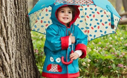 Skip Hop可爱动物园儿童雨衣:3D立体动物造型,遮风挡雨更可爱