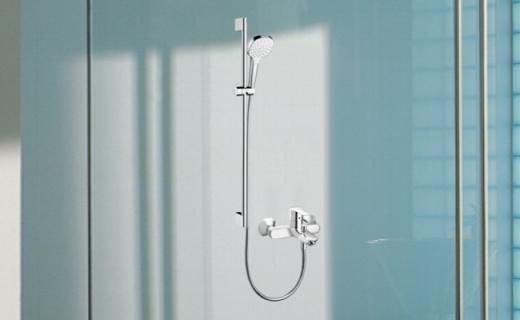 漢斯格雅花灑龍頭套裝:高彈硅膠大面積出水孔,舒爽暢快淋浴體驗