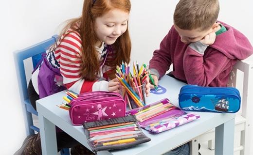 Tigerfamily文具筆袋:大容量多分區方便收納,歐盟檢測安全無毒