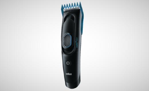 博朗电动理发器:智能修剪随心所欲,全机身水洗耐用省电