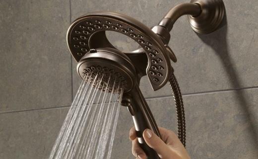 这个二合一的顶喷花洒,让洗澡变成双倍享受