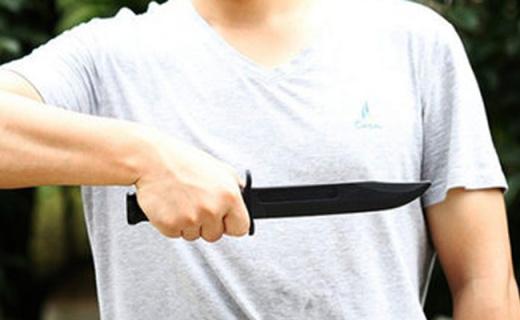 美国冷钢短刃训练刀:格?#36153;?#32451;不伤手,凯夫拉硬塑防身携带可过安检