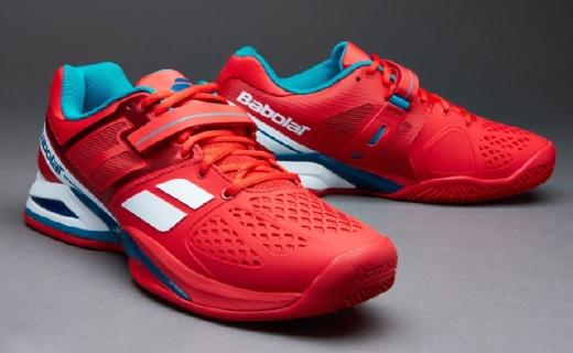 百宝力PROPULSE BPM网球鞋?#22909;?#20854;林橡胶大底,透气鞋面更舒适