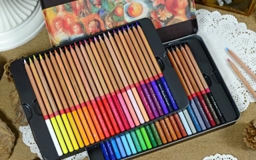 马可72色彩铅套装:美国雪松材质笔杆,油性加粗彩铅?#21487;?#32454;腻