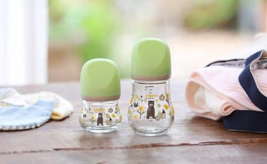 貝親推耐熱玻璃奶瓶,材質安全設計軟萌