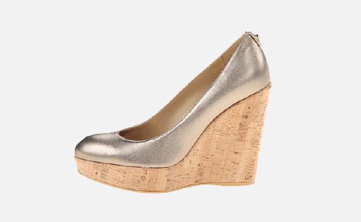 英国王妃凯特同款女士麂皮坡跟鞋,舒适透气蹦?#22902;?#36339;都不累