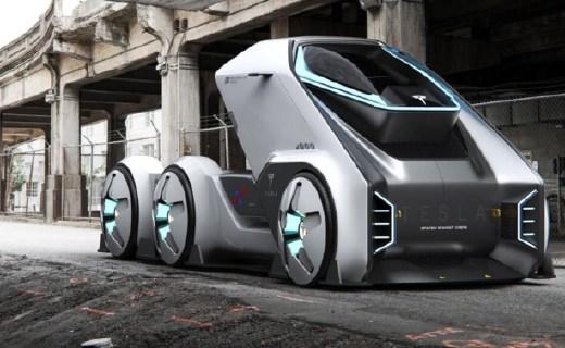 特斯拉概念版太空卡車曝光,極具未來風格!