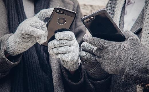 摩仕Digits觸控手套:電纖維指尖支持十指觸控,細絨內襯保暖防寒