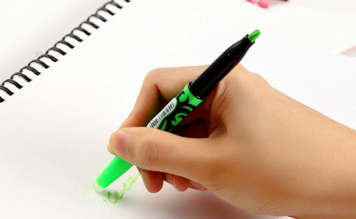 PILOT荧光记号笔:可擦设计方便修改,专利护眼荧光墨液