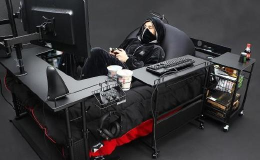 日本電競家具廠推出懶人電競床,這可能是肥宅的最愛...