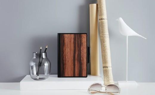 開物創意筆記本:木革封皮溫柔觸感,收納記錄多功能