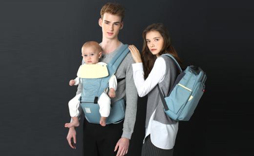 费雪背婴带:舒适45°坐凳角度,让宝宝更有安全感