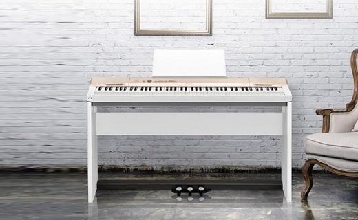 卡西欧PX-160GD数码钢琴:纯音采集音色准确,仿木材质手感柔和