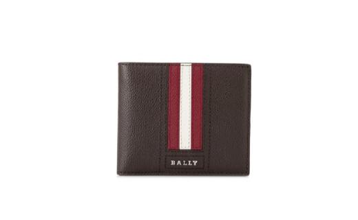 巴利条纹男士真皮钱包:纯皮材质,多卡位设计,实用便携