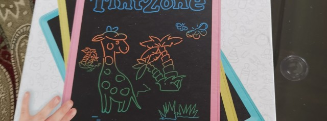TintZone繪特美兒童彩色液晶手寫板試用