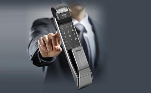 三星电子智能锁:指纹密码刷卡多用,上锁保护更安全