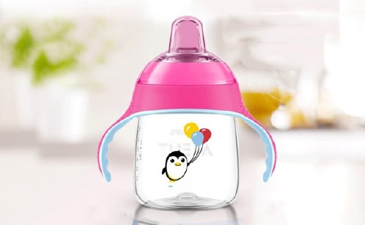 新安怡七安士卡通企鵝杯:200ml容量不含雙酚A,鍛煉寶寶喝水能力