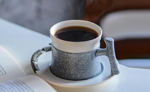 無名印象仿石紋咖啡杯套裝:仿石紋釉瓷器,保留天然之美