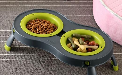 Dexas寵物碗:支架設計保護寵物脊椎,折疊易攜帶