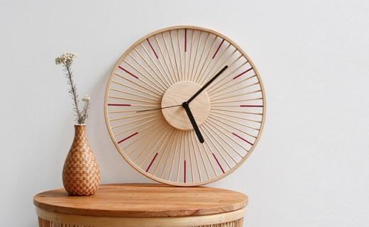 自然家竹時掛鐘:天然楠竹楓木制成,清新自然的原始美