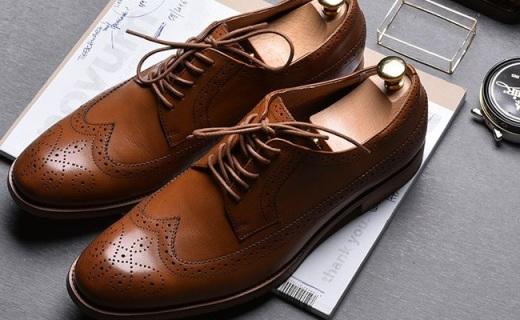 網易嚴選男士皮鞋:布洛克雕花美觀透氣,全牛皮材質超舒適