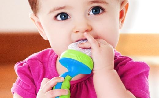 Nuby嬰兒輔食咬咬袋:鍛煉咀嚼手口協調,無毒無味食品級材質