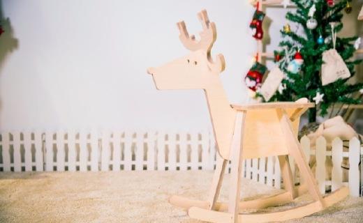 Pepper圣诞鹿拼装玩具:芬兰原始森林桦木,自由涂鸦