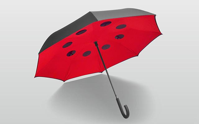 Ideashow雙層反向長柄晴雨傘