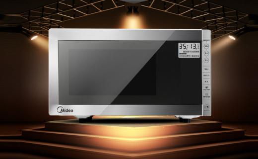 美的M5-233A微波炉:鹰眼智控轻松烹饪,克虏伯外框高端大气