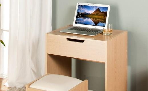 好事達惠梳妝桌椅組合:E1環保板材,多格收納更方便