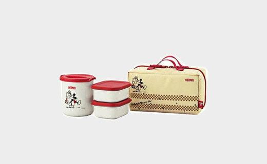 膳魔师保温盒套装:不锈钢食品级PP材质,超强保温6小时