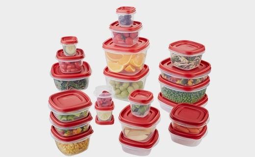 樂柏美42件套裝保鮮盒:種類大小繁多,密封性好不串味