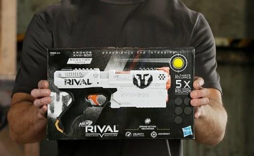孩之宝 Rival 竞争者系列发射器?#21512;?#33014;子弹安全无担忧,逼真枪战体验