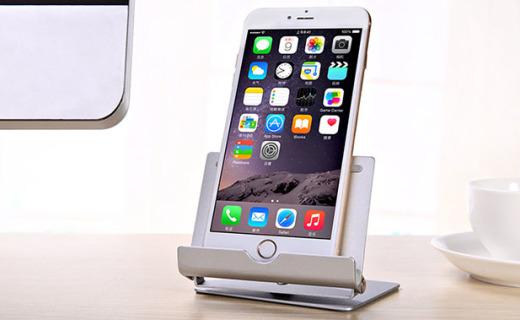 seenDa手机支架:手机平板两用,铝合金材质可360°旋转