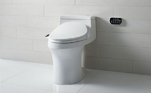科勒K-18659T-0智能馬桶蓋:即熱沖水技術,不易滋生細菌
