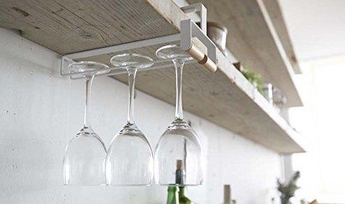 山崎实业酒杯架:收纳装饰多功能使用,简单大方美观实用