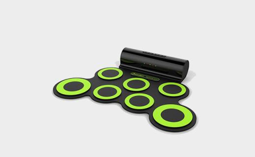 Iword手卷電子鼓:便攜可折疊,自帶雙揚聲器支持電子鼓游戲