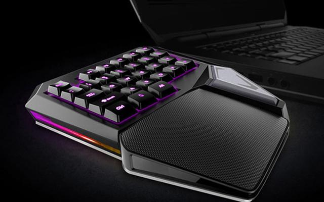 多彩Delux 单手机械键盘 Cherry茶轴